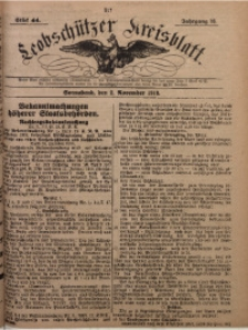 Leobschützer Kreisblatt, 1918, Jg 76, St. 44