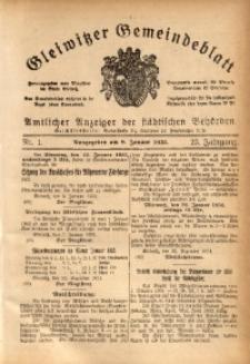 Gleiwitzer Gemeindeblatt, 1932, Jg. 23, Nr. 1