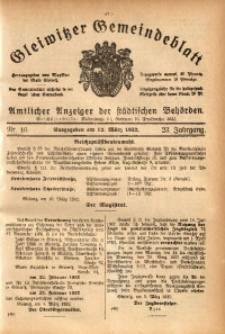 Gleiwitzer Gemeindeblatt, 1932, Jg. 23, St. 10