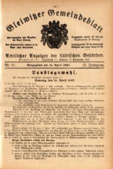 Gleiwitzer Gemeindeblatt, 1932, Jg. 23, St. 16