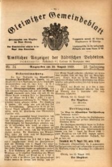 Gleiwitzer Gemeindeblatt, 1932, Jg. 23, St. 34