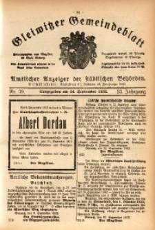 Gleiwitzer Gemeindeblatt, 1932, Jg. 23, St. 39