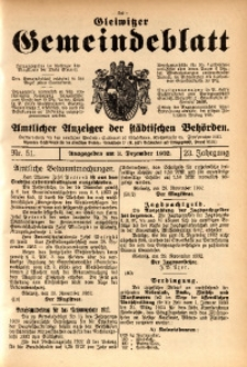 Gleiwitzer Gemeindeblatt, 1932, Jg. 23, St. 51