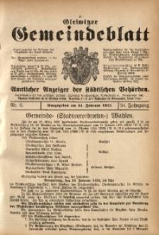 Gleiwitzer Gemeindeblatt, 1933, Jg. 24, Nr. 6