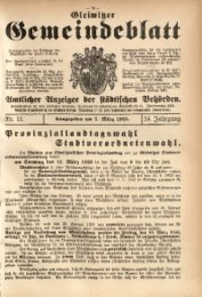Gleiwitzer Gemeindeblatt, 1933, Jg. 24, Nr. 11