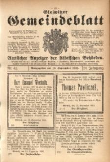 Gleiwitzer Gemeindeblatt, 1933, Jg. 24, Nr. 42