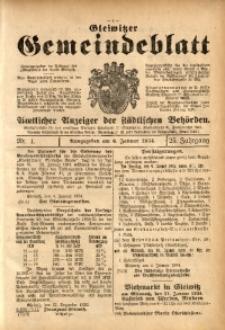 Gleiwitzer Gemeindeblatt, 1934, Jg. 25, Nr. 1