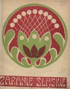 Zaranie Śląskie, 1911, R. 4, z. 1