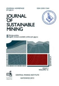 Journal of Sustainable Mining, 2013, nr 3