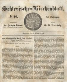 Schlesisches Kirchenblatt, 1845, Jg. 11, nr 10