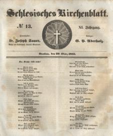Schlesisches Kirchenblatt, 1845, Jg. 11, nr 13