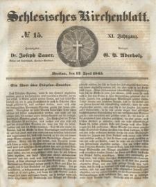 Schlesisches Kirchenblatt, 1845, Jg. 11, nr 15