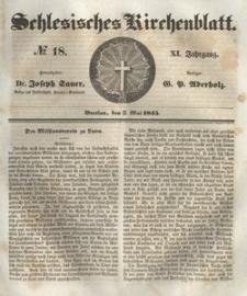 Schlesisches Kirchenblatt, 1845, Jg. 11, nr 18