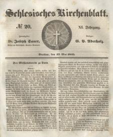 Schlesisches Kirchenblatt, 1845, Jg. 11, nr 20