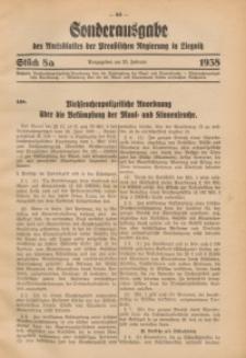 Amtsblatt der Preußischen Regierung in Liegnitz, 1938, Jg. 128, St. 8a