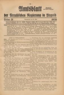 Amtsblatt der Preußischen Regierung in Liegnitz, 1938, Jg. 128, St. 21