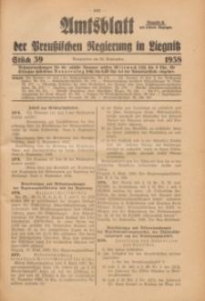 Amtsblatt der Preußischen Regierung in Liegnitz, 1938, Jg. 128, St. 39