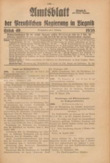 Amtsblatt der Preußischen Regierung in Liegnitz, 1938, Jg. 128, St. 40