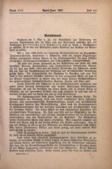 Archiv für Innere Kolonisation, 1925, Bd. 17. H. 4/6