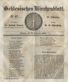 Schlesisches Kirchenblatt, 1845, Jg. 11, nr 47