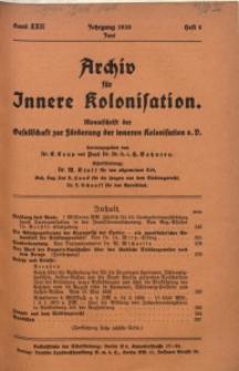 Archiv für Innere Kolonisation, 1930, Bd. 22, H. 6