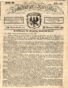 Leobschützer Kreisblatt, 1861, Jg. 19, St. 47
