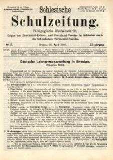 Schlesische Schulzeitung, 1898, Jg. 27, Nr. 17