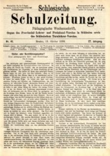 Schlesische Schulzeitung, 1898, Jg. 27, Nr. 41