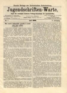 Jugendschriften-Warte, 1898, Jg. 6, No. 7