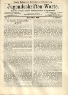 Jugendschriften-Warte, 1898, Jg. 6, No. 11