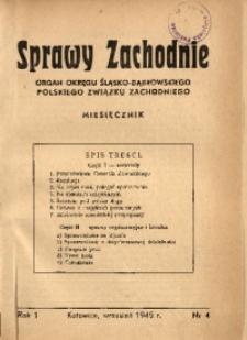 Sprawy Zachodnie, 1945, R. 1, nr 4
