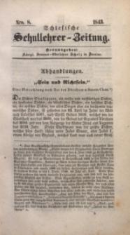 Schlesische Schullehrer-Zeitung, 1843, Jg. 1, Nro. 8