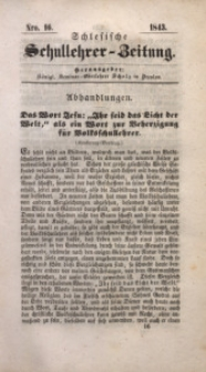 Schlesische Schullehrer-Zeitung, 1843, Jg. 1, Nro. 16