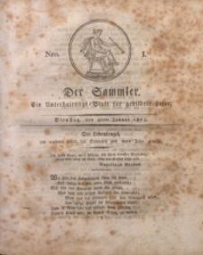 Der Sammler, 1825, Nro. 1