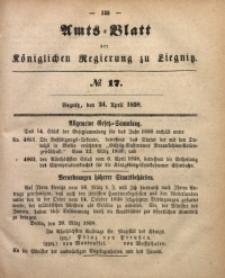 Amts-Blatt der Königlichen Regierung zu Liegnitz, 1858, Jg. 48, No. 17