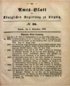 Amts-Blatt der Königlichen Regierung zu Liegnitz, 1858, Jg. 48, No. 36