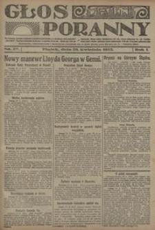 Głos Poranny, 1922, R. 1, nr 27