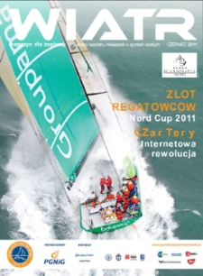 Wiatr : magazyn dla żeglarzy : pierwszy bezpłatny miesięcznik o sportach wodnych