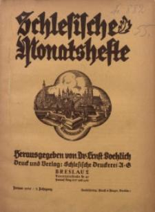 Schlesische Monatshefte, 1926, Jg. 3, Nr. 1