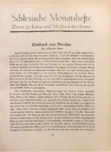 Schlesische Monatshefte, 1927, Jg. 4, Nr. 3
