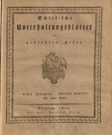 Schlesische Unterhaltungsblätter für gebildete Leser, 1810, Jg. 1, Nr. 44