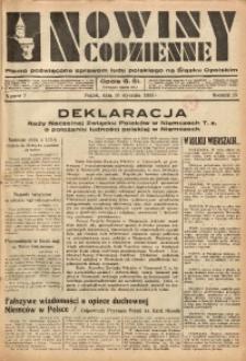 Nowiny Codzienne, 1936. R. 26, nr 7