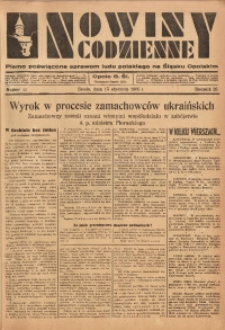 Nowiny Codzienne, 1936. R. 26, nr 11