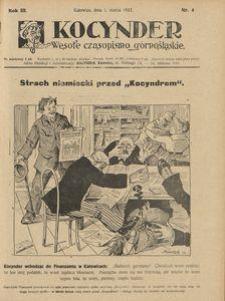 Kocynder, 1922, R. 3, nr 4