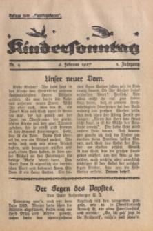 Kindersonntag, 1927, Jg. 1, Nr. 4