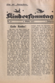 Kindersonntag, 1927, Jg. 1, Nr. 21