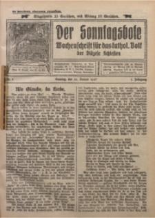Der Sonntagsbote. Wochenschrift für das kathol. Volk der Diözese Schlesien, 1927, Jg. 3, Nr. 3