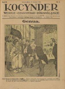Kocynder, 1922, R. 3, nr 8