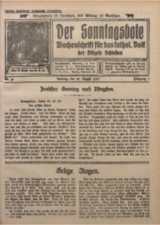 Der Sonntagsbote. Wochenschrift für das kathol. Volk der Diözese Schlesien, 1927, Jg. 3, Nr. 35