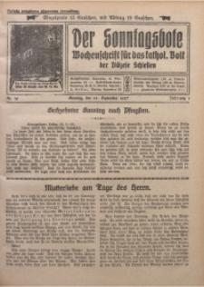 Der Sonntagsbote. Wochenschrift für das kathol. Volk der Diözese Schlesien, 1927, Jg. 3, Nr. 39